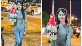 ▲賣花女(圖/翻攝自泰國網臉書)