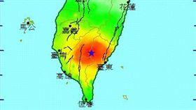 0403台東延平地震 圖/翻攝自中央氣象局