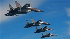 中國,軍機,軍艦,海峽中線 (圖/翻攝自百度)