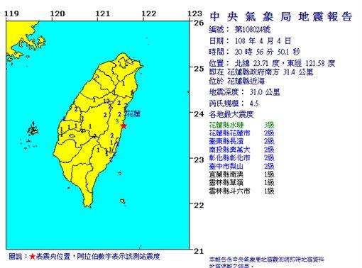 地震(圖/氣象局)