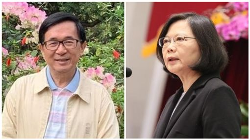 陳水扁、蔡英文(合成圖/翻攝自蔡英文、新勇哥物語臉書)