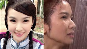 陳小菁《戲說台灣》裡古裝扮相溫柔婉約,卻在《炮仔聲》大膽演出。(圖/翻攝自臉書)
