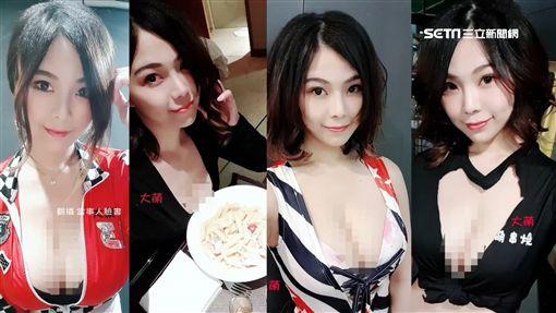 大萌妹子火辣裝扮 電玩直播主轉戰麵店.串燒店