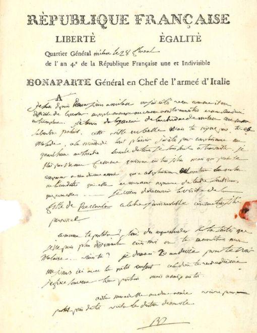 拿破崙致約瑟芬的情書。(圖/翻攝自推特@Drouot)