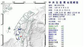 清晨被搖醒!屏東發生規模4.4地震(圖/氣象局)
