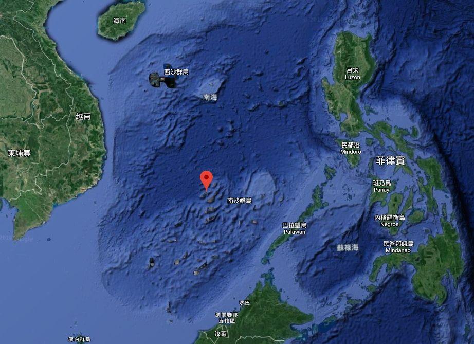 南海中業島(圖/翻攝自Google Map)