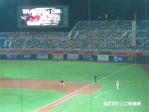 ▲中信兄弟相當多球迷到青埔球場看球。(圖/記者蕭保祥攝影)