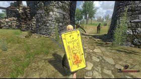 近日竟有國外網友以《還願》符咒為素材惡搞,在另款遊戲中製成盾牌外觀。(翻攝自Steam論壇)