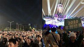 總統府前音樂會,蔡英文台下聆聽。記者黃宣尹攝影