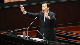 國民黨立法委員費鴻泰質詢。 圖/記者林敬旻攝