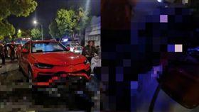 藍寶堅尼Urus「尬車」追撞電動車 騎士彈飛2米高「插進車窗」慘死(圖/翻攝自微博)