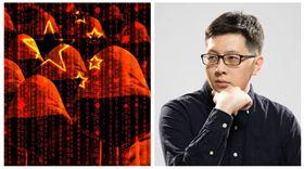 網軍與王浩宇,翻攝臉書