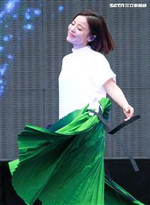 NONSTOP春日音樂祭表演嘉賓丁噹。(記者林士傑/攝影)