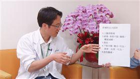 萬芳醫院消化內科主治醫師吳立偉談肝癌(記者陳則凱攝影)