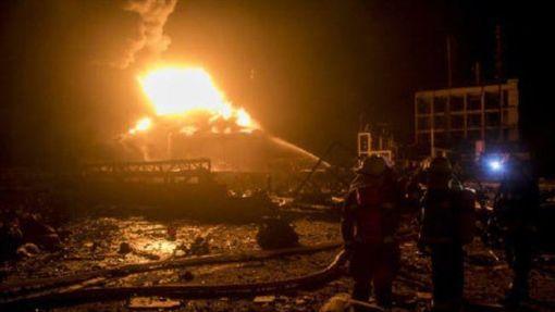 中國11天7起爆炸事故 死亡達156人(圖/翻攝自微博)