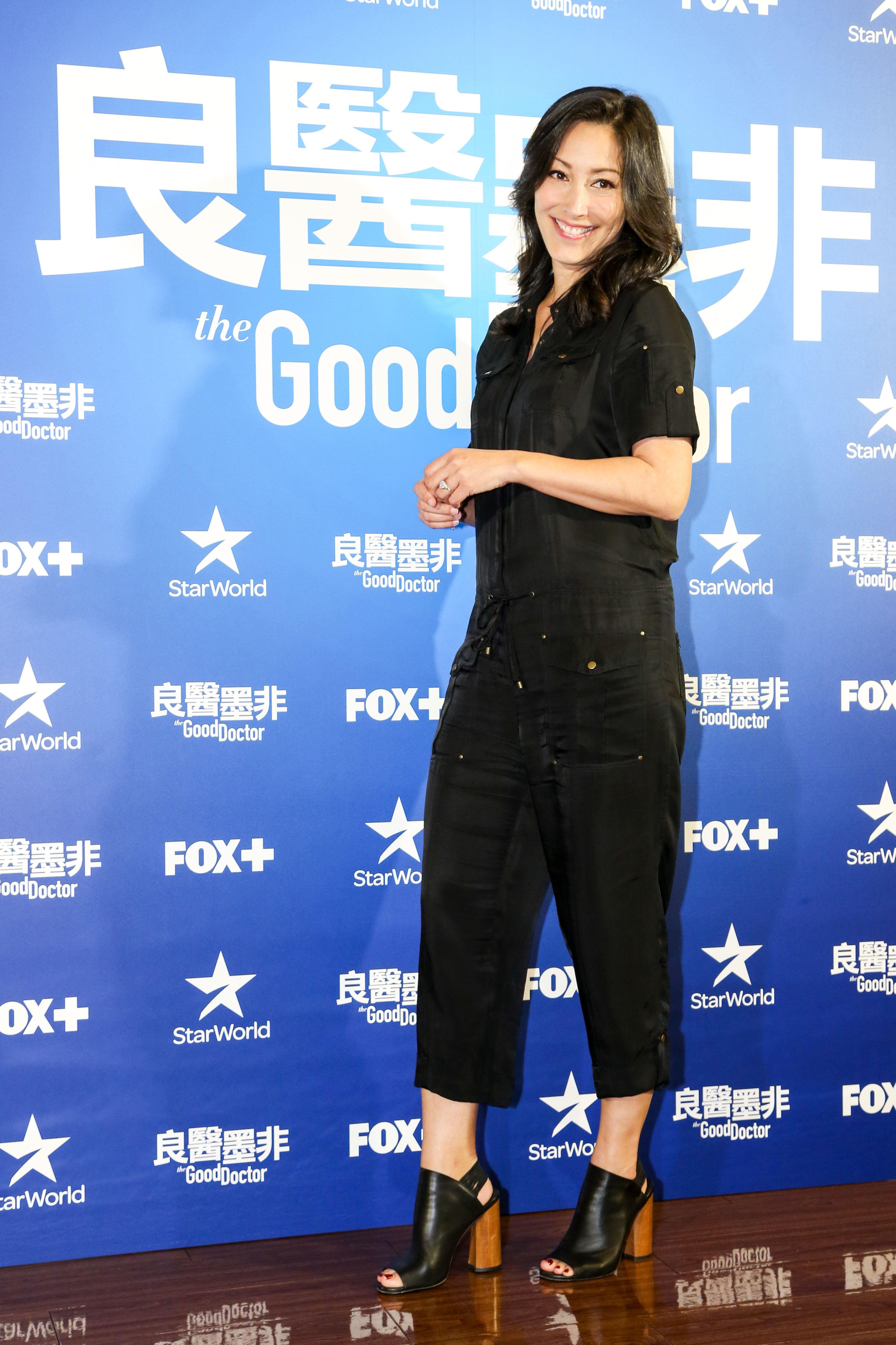 超人氣美劇《良醫墨非》唯一台裔主演Christina Chang來台。(記者林士傑/攝影)