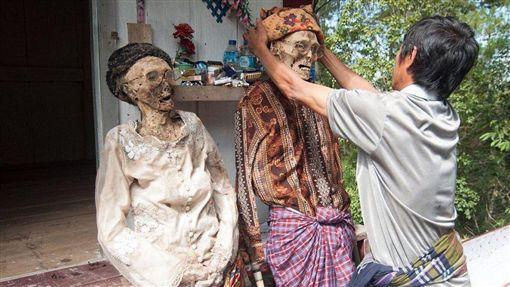 印尼,屍體,節慶 (圖/翻攝自推特)
