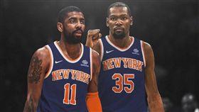 NBA/傳KD厄文正討論誰先去紐約 NBA,紐約尼克,金州勇士,Kevin Durant,波士頓塞爾提克,Kyrie Irving 翻攝自推特
