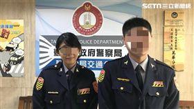 劉姓女警(左)從警一年多就發生槍枝誤擊事件(翻攝畫面)