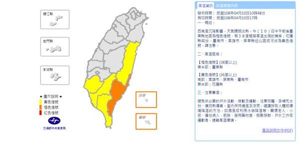 氣象局,天氣,高溫,極端高溫,台東縣