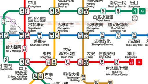 捷運線。(圖/取自台北捷運局)