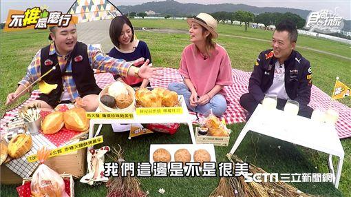 由莎莎、ANDY老爹、Budi所主持的《不推怎麼行》邀請「學姊」黃瀞瑩圖/TVBS提供