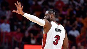 NBA/韋德告別戰爆發繳「大三元」 NBA,邁阿密熱火,Dwyane Wade,Udonis Haslem,退休 翻攝自推特