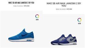 NIKE,訂製鞋,標錯價。(圖/翻攝自www.ptt.cc)