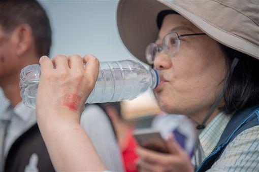 蔡英文總統11日參加「白沙屯媽祖進香」並赴北港朝天宮參拜。(圖/總統府提供)