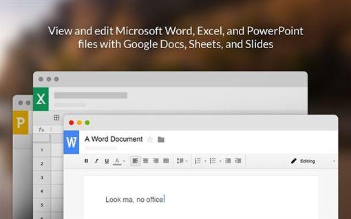 Google文件能直接編輯微軟Office了(圖/翻攝自Google Chrom Web Store官網)
