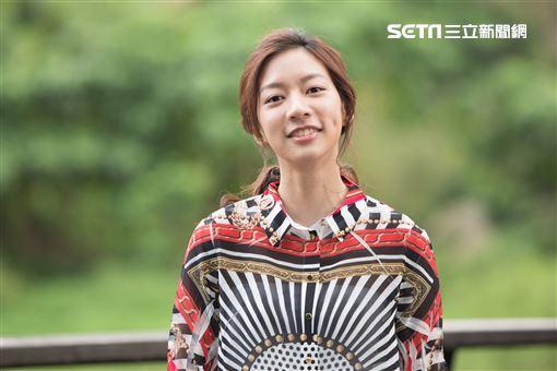 陳妤接受三立新聞網專訪。(記者林士傑/攝影)