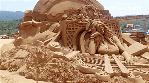 福隆國際沙雕藝術季,謬思女神,/觀光局提供