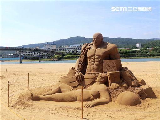 福隆國際沙雕藝術季,文明演化,/觀光局提供