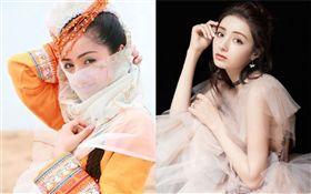 新疆女星麥迪娜。微博