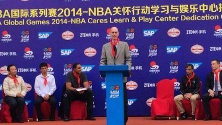 ▲NBA主席Adam Silver。(圖/取自NBA推特)
