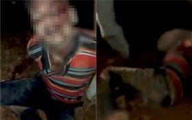 印度,男子性侵殺害女童遭民眾暴打(圖/翻攝自推特)