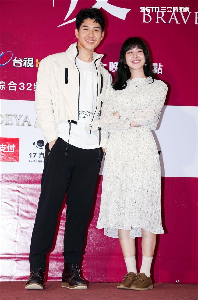 偶像劇《愛情白皮書》粉絲見面會,演員宋柏緯、謝翔雅。(記者林士傑/攝影)