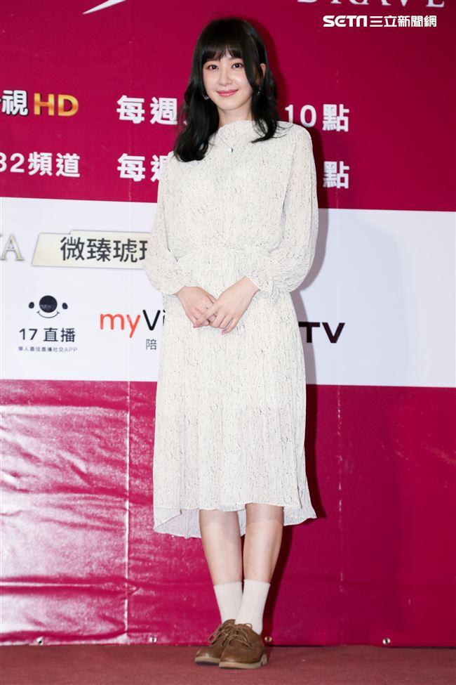 偶像劇《愛情白皮書》粉絲見面會,演員謝翔雅。(記者林士傑/攝影)