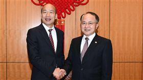 韓國瑜與香港中聯辦主任王志民,香港中聯辦官網