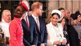 英國哈利王子跟老婆梅根(Meghan Markle)/威廉王子/凱特王妃。IG