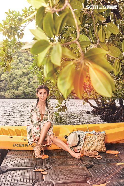 郭書瑤(瑤瑤)日前隨著《潮旅》雜誌赴帛琉旅行圖/潮旅提供
