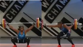 (圖/翻攝自YouTube)歐洲舉重錦標賽,抓舉,失敗,骨折