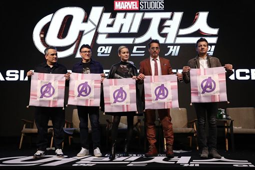 《復仇者聯盟:終局之戰》15日赴韓宣傳。(圖/翻攝自復仇者臉書)