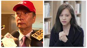 ▲鴻海董事長郭台銘、財經專家胡采蘋(組合圖,翻攝臉書)