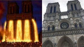 聖母院。(圖左/翻攝自IMDB、圖右/記者詹婷惠攝影)