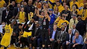 NBA/快艇大心臟菜鳥一球射翻勇士 NBA,季後賽,洛杉磯快艇,Landry Shamet 翻攝自推特