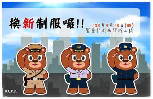 警政署,換新裝,熊古力,高雄
