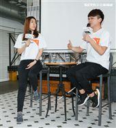 蔡阿嘎與理科太太參加台灣世界展望會宣導活動。(記者林士傑/攝影)