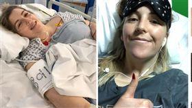 躺床看電視「喀!」一聲脖子斷了,23歲女歪脖太久動脈破裂。(圖/翻攝自太陽報)