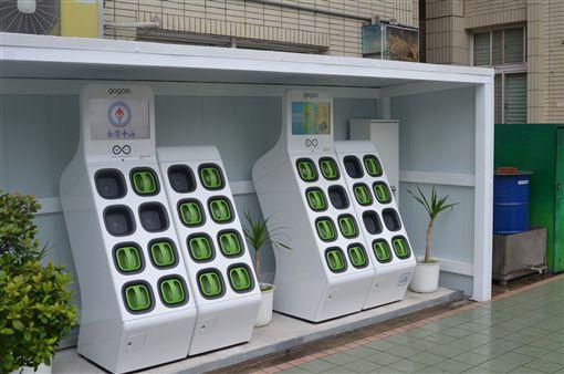 經濟部推動各產業發展,提供169個輔導專案,盼加速創新轉型,帶動當地產業與經濟成長,16日赴台灣中油馬公站實地了解Gogoro充電站運作情形。中央社 108年4月16日